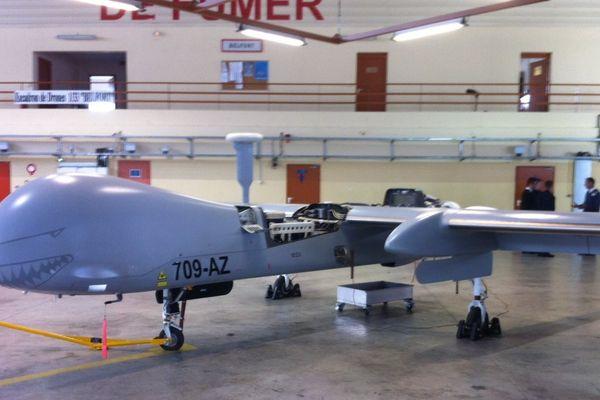 Un des drones Harfang basé à Cognac