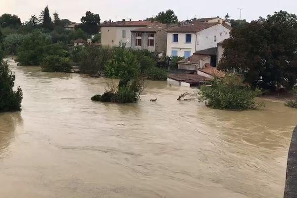 En quelques minutes, le ruisseau l'Albane s'est transformé en un torrent provoquant des inondations dans plusieurs villages - 10 septembre 2021