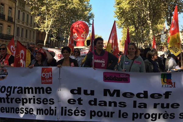 Photo d'illustration : la manifestation contre la loi travail du 21 septembre à Toulouse