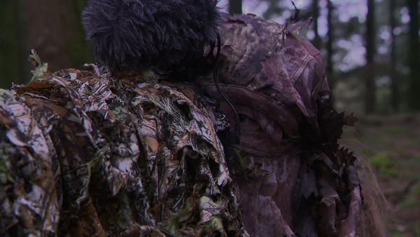 La photographe prend mille précautions pour ne pas perturber la faune.