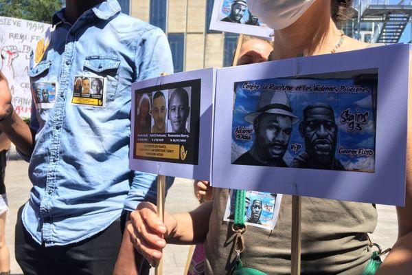 Près de 80 manifestants se sont réunis à Bordeaux pour dénoncer les violences policières et commémorer la mort d'Adama Traoré.
