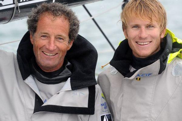 François Gabart et Michel Desjoyaux font équipe ensemble pour la 11e édition de la Transat Jacques Vabre.