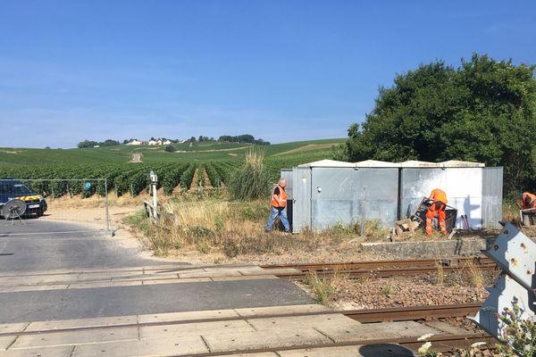 C'est dans la commune d'Avenay-Val-d'or (Marne), sur un passage à niveau que s'est produit l'accident ce 15 juillet à 9h45.