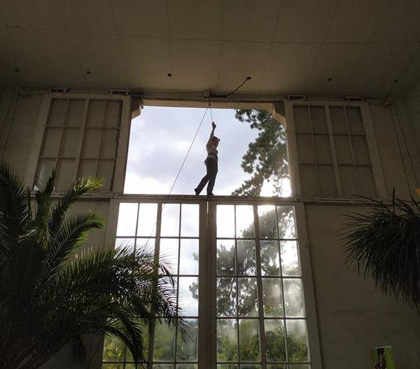 Spectacle donné en 2020 à l'orangerie du Jardin des plantes à Rouen.