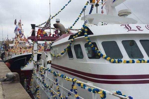 Les bateaux décorés à quai