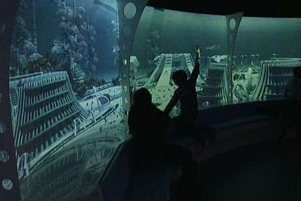 Montpellier - le simulateur sous-marin de l'aquarium Mare Nostrum - 2014