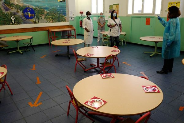 Dans une école de Nice ce 11 mai
