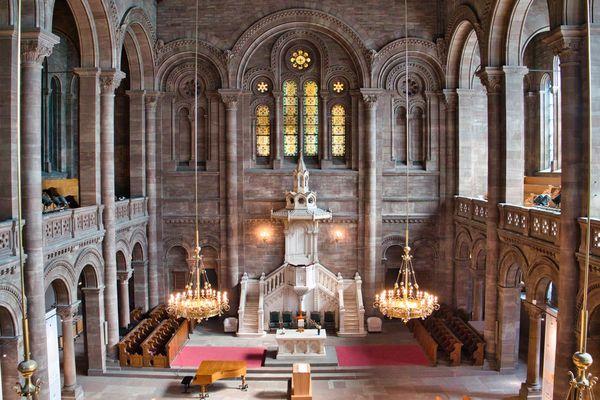 L'église du Temple-Neuf de Strasbourg (Bas-Rhin) accueille régulièrement de nombreux concerts.
