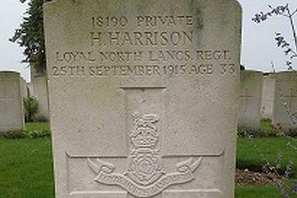 La tombe d'Henry Harrison, grand-père du célèbre Georges.