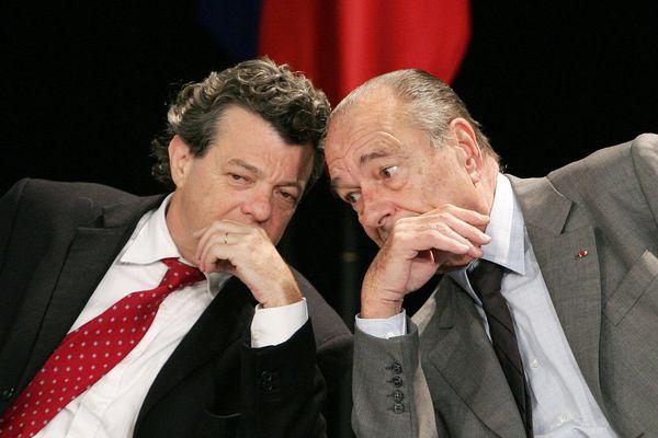 Jacques Chirac et Jean-Louis Borloo, le 14 novembre 2006