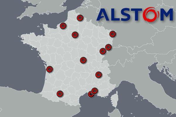 En France, 9000 salariés travaillent pour Alstom sur 12 sites