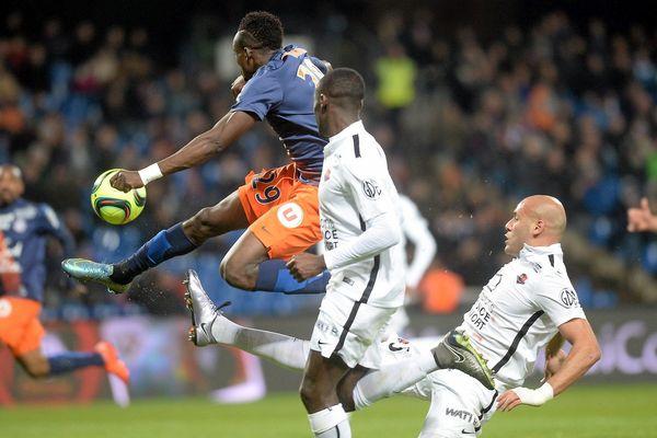 Montpellier-Caen (2-1) au stade de la Mosson.
