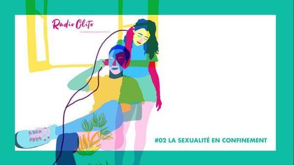 Le logo du dernier épisode du podcast Radio Clito dédié à la sexualité en confinement.