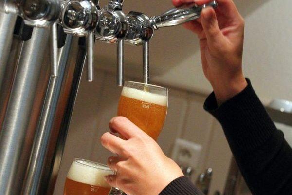 Bière à la pression (illustration)