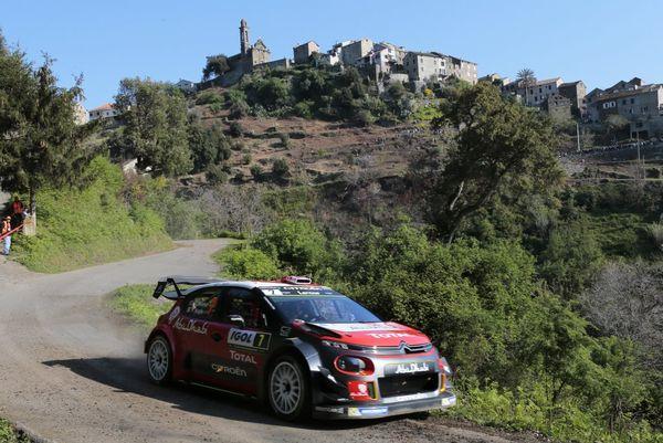 WRC/Tour de Corse - Le Britannique Kris Meeke (Citroen Abu Dhabi Total WRT) 3ème des essais jeudi 6 avril 2017 à moins d'une seconde du Néo-zélandais Hayden Paddon (2ème) et du français Sébastien Ogier, meilleur temps.
