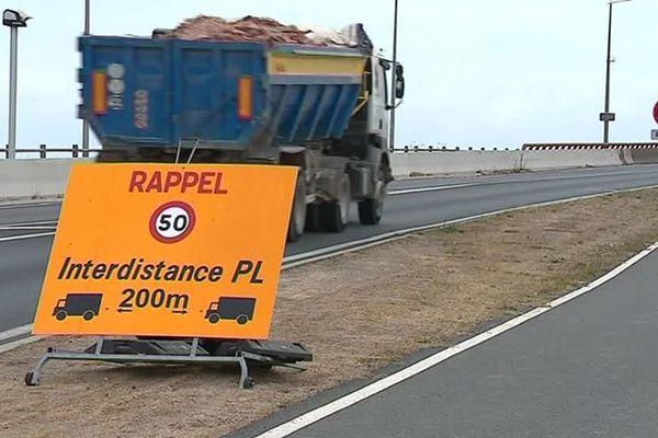 Les mesures de restrictions de circulation restent en vigueur sur le pont de l'île de Ré.
