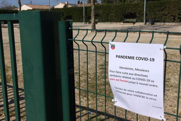 Le boulodrome de Saint-André-De-Sangonis est interdit d'accès en raison de l'obligation de confinement.