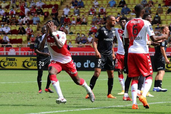 Football - Ligue 1 : mené 2-0, Monaco a sauvé le nul face à Reims notamment grâce à A. Disasi.