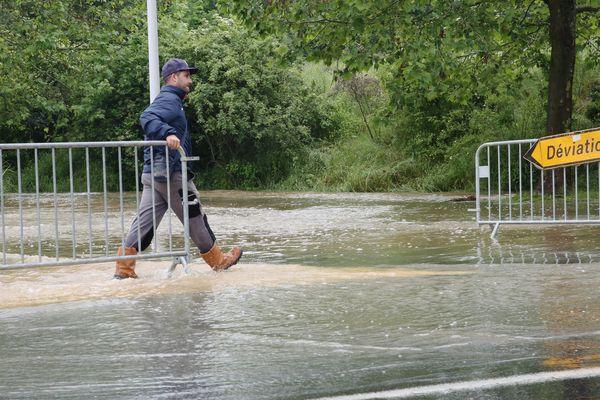 Une inondation à Saint-Fargeau-Ponthierry (Seine-et-Marne) en 2016.
