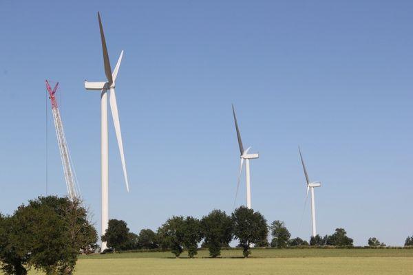 Les 3 éoliennes citoyennes totalisent 9MW, elles enteront en service en juillet prochain.
