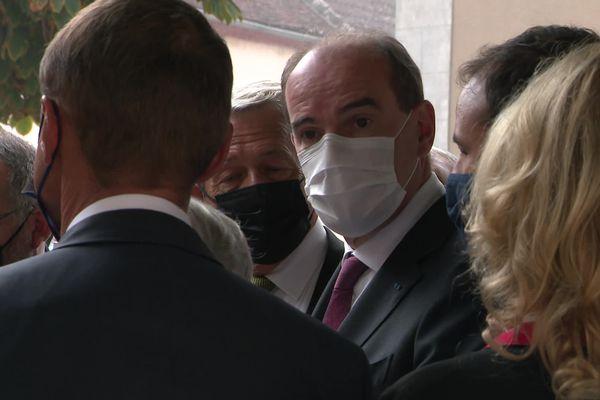 Le Premier Ministre Jean Castex, à Bassou (Yonne)