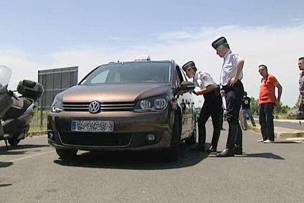 Montpellier - contrôle des taxis par la gendarmerie - 17 juin 2013.