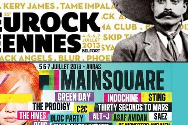L'affiche des Eurockéennes vs l'affiche du Main Square : vous préférez laquelle ?