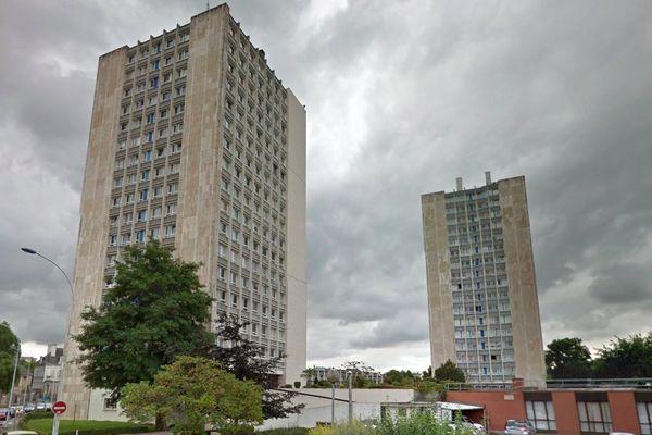 La victime a chuté du 7e étage de la tour Saint-Jean B, à Arras.