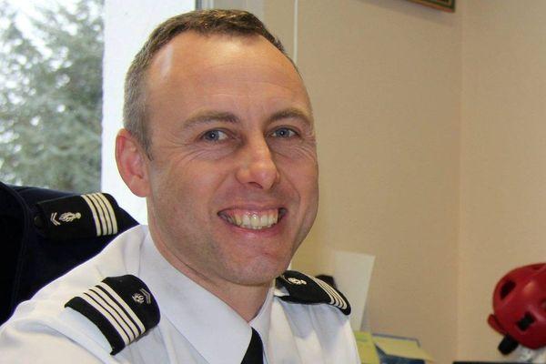 Le gendarme Arnaud Beltrame, mort lors des attaques jihadistes dans l'Aude, du 23 mars 2018.
