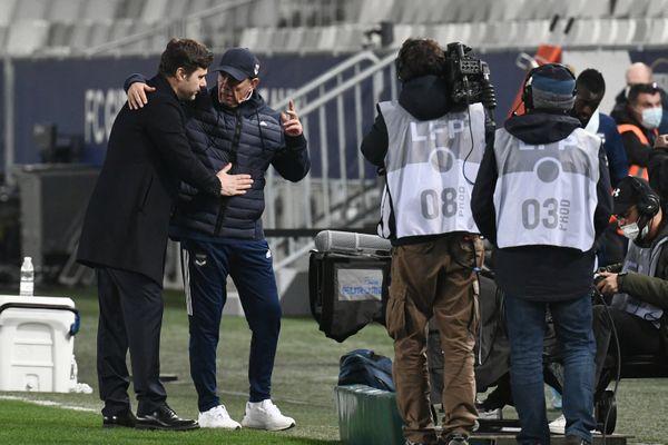 Mauricio Pochettino célèbre la victoire de son équipe face à Bordeaux