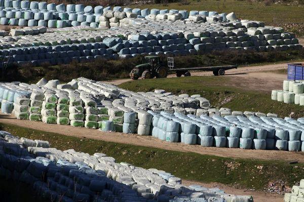 Le site de stockage de Saint-Antoine, à Ajaccio, lors de la crise des déchets de 2020.