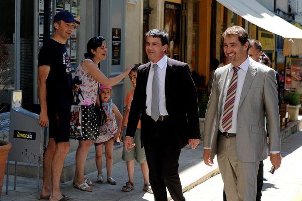 A Forcalquier, le 16 juillet 2012 avec Manuel Valls.