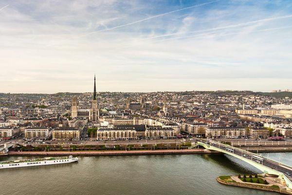 La ville de Rouen, en Seine Maritime