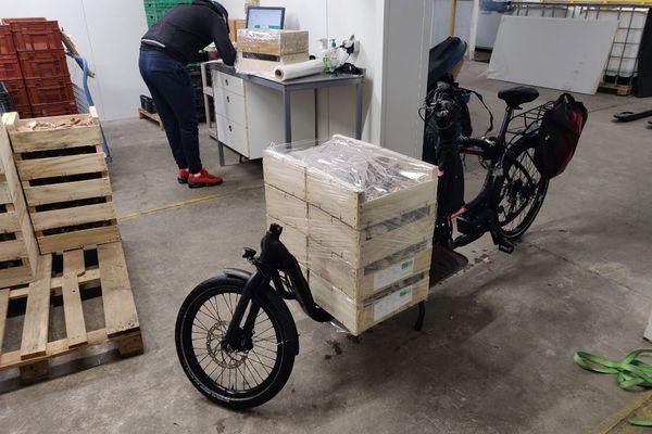L'un des vélos utilisés pour la livraison.