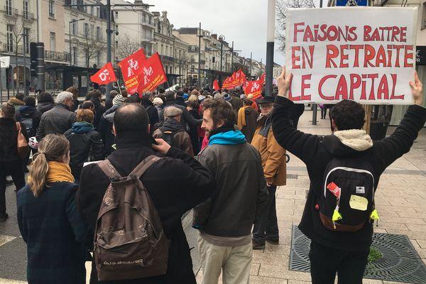 Manifestation contre la réforme des retraites à Angers, le 9 janvier 2020
