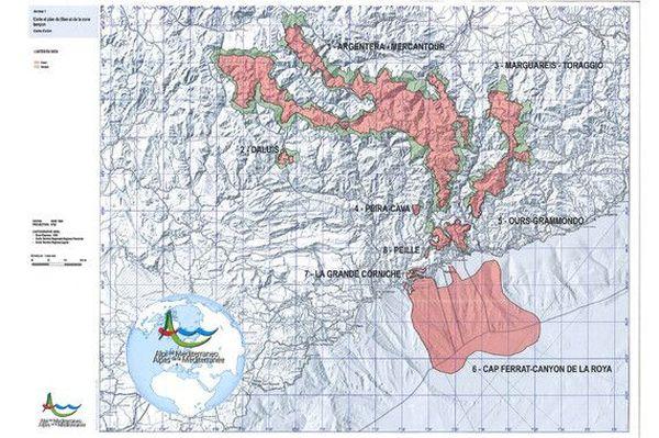Le territoire porté par Les Alpes de la Méditerranée, soit 80 communes.
