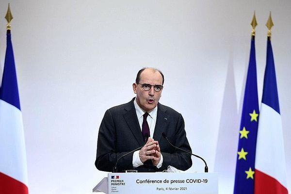 Le Premier ministre Jean Castex lors d'une conférence de presse ce jeudi pour faire un point sur la situation sanitaire. Photo Martin BUREAU/AFP