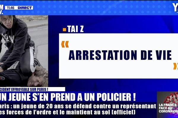 """Dans son clip """"Arrestation de vie"""", Tai Z rejoue l'arrestation de George Floyd en inversant les rôles."""