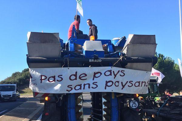 Une opération escargot a été organisée ce matin à Montpellier par une centaine d'agriculteurs en colère - 8 octobre 2019