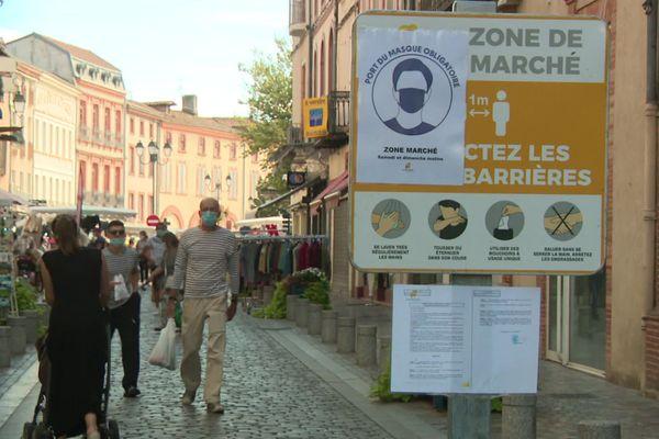 A Moissac (Tarn-et-Garonne), le port du masque est déjà obligatoire.