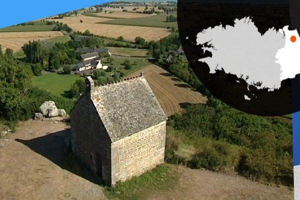 La chapelle du Mont Dol, vue d'en haut