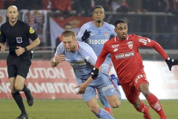 L'AS Monaco chute face à Dijon (2-0) lors de a 22ème journée de Ligue 1