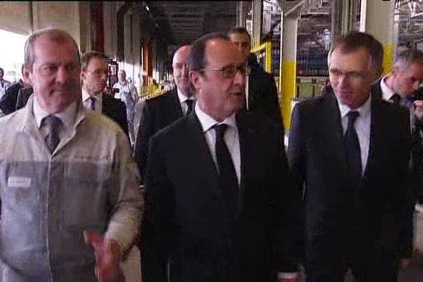 François Hollande visite l'usine de Trémery ce vendredi 27 mars