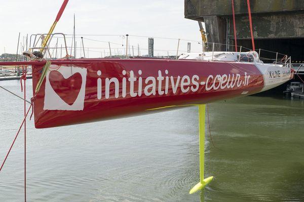 En chantier au moment du confinement, le bateau de Samantha Davies a été remis à l'eau mercredi 13 mai à Lorient.