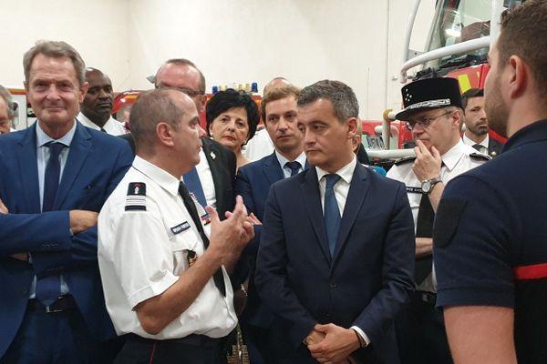 Gérald Darmanin est allé à la rencontre des pompiers du Lot-et-Garonne