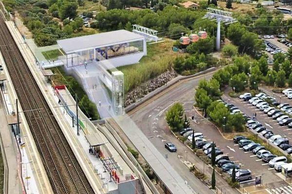 Image du projet de téléphérique reliant la gare de Vitrolles à l'aéroport Marseille-Provence.