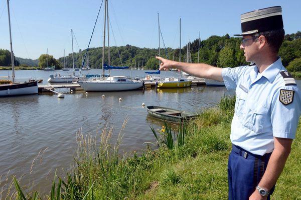 Un jeune homme est mort noyé, le 12 juin 2014, sur les bords de la Vilaine dans le port de Foleux, à Béganne (Morbihan).