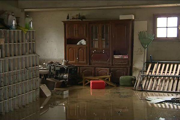 Une coulée de boue et des inondations dans un lotissement d'Amou dans les Landes
