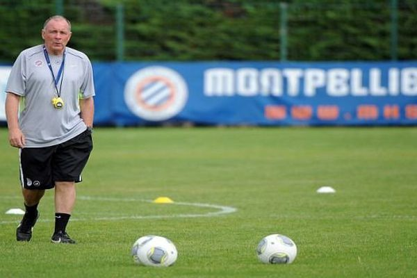 Montpellier - Jean Fernandez, l'entraîneur du MHSC à Grammont - 7 août 2013.