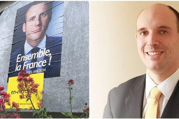 Emmanuel Drouin, à droite, va quitter le parti des Marcheurs